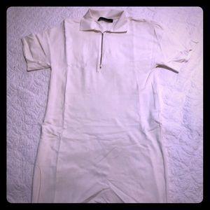 Zara white polo neck dress